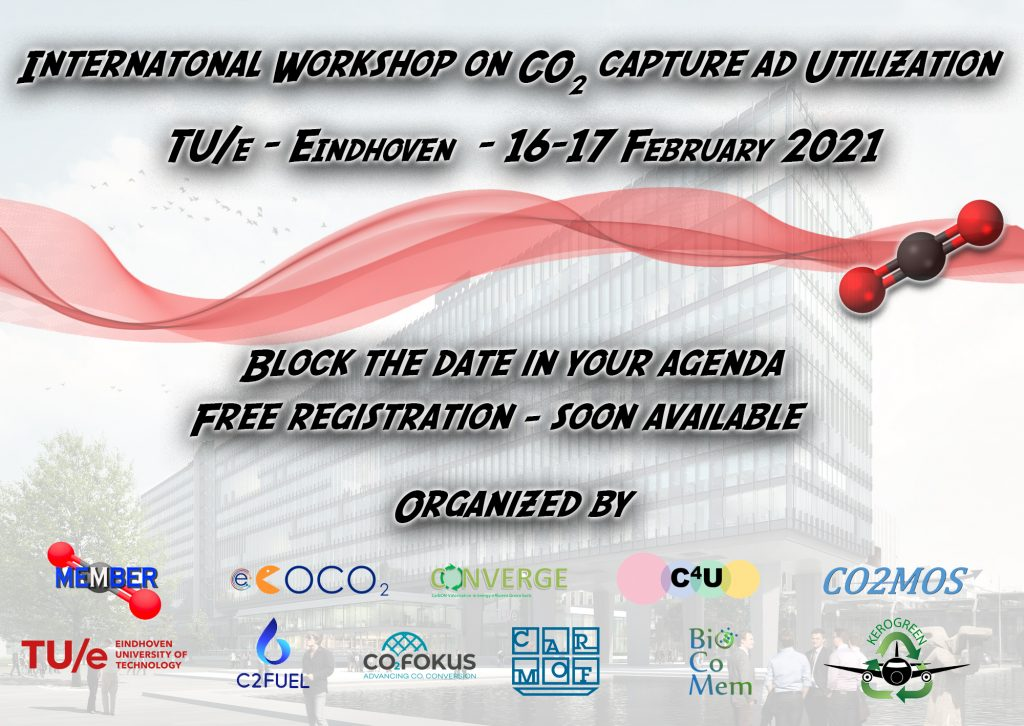 International workshop on CO2 capture and utilization - 16 & 17 February of 2021